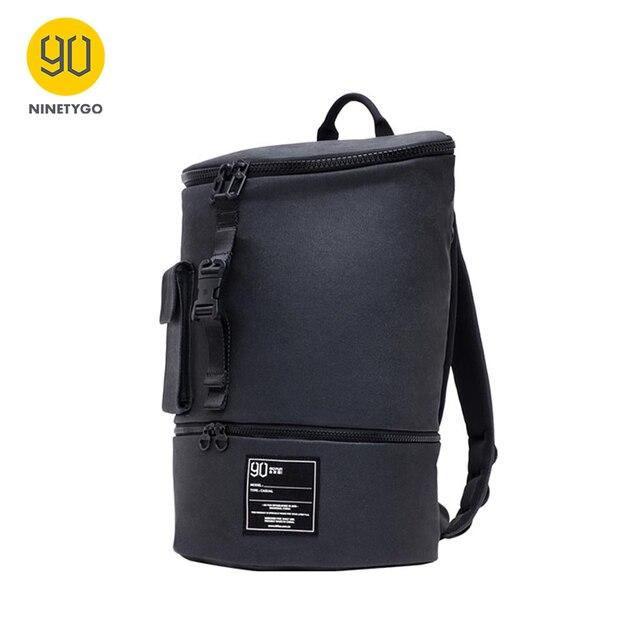 NINETYGO 90FUN حقيبة ظهر أنيقة أنيقة على ظهره مقاوم للماء على ظهره الرجال النساء حقيبة مدرسية حقيبة تسوق حقيبة كمبيوتر محمول عادية سعة كبيرة