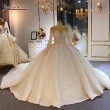 الكرة ثوب الزفاف اللباس ثوب زفاف جديد الجدد