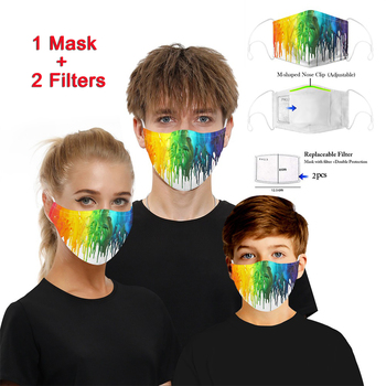 цена на 2020 Multicolor Reusable PM2.5 Anti dust Anti-fog Mouth Mask Activated carbon Filter Mouth muffle bacteria proof Anti Pollution