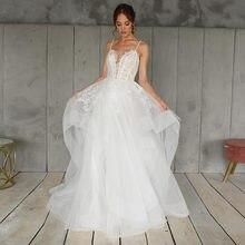 Элегантное Тюлевое платье трапеция из органзы свадебные платья