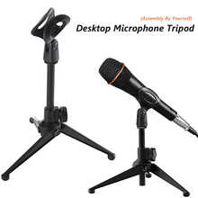 Desktop Microphone Mounting-Clamp Tripod Mic-Clip Table E300-Stand-Holder with for Meetings