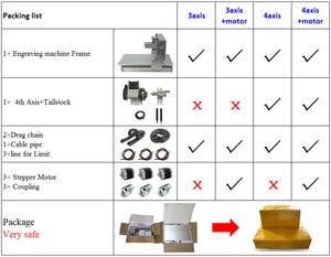 Image 5 - Cnc 3040 Rack Graveermachine Frame 4Axis Kit Met Nema23 Stappenmotoren Cnc Draaibank 300X400Mm Diy onderdelen