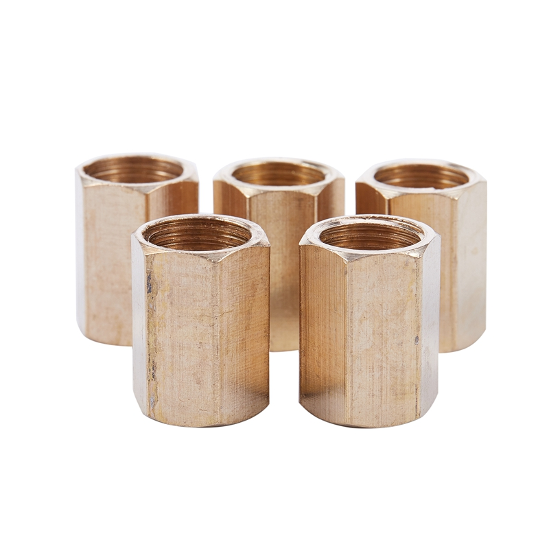 5pcs 1/4 Inch BSP Female Thread Straight Pneumatic Connector Joint Adapter