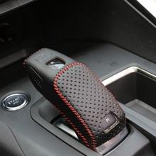 Geändert Hand Genähte Leder Schaltknauf Kopf Schutz Abdeckung Für Peugeot 4008 Auto Zubehör