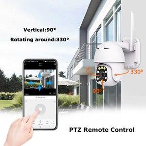Image 5 - 1080P PTZ IP המצלמה Wifi חיצוני כיפת אלחוטי Wifi פאן ההטיה 4X דיגיטלי זום 2MP רשת טלוויזיה במעגל סגור מעקב