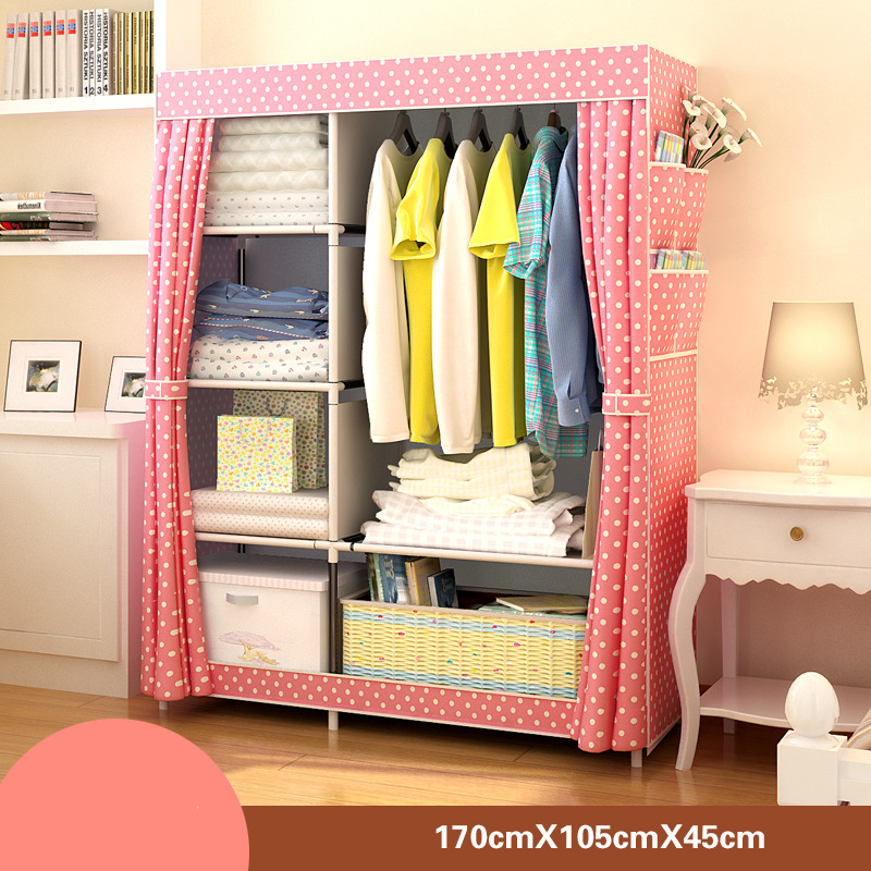 Image 2 - Bedroom Furniture Wardrobe Bedroom Cabinet Cloth Room Storage Assembly Multifunction Simple And Modern Furniture Closet JC042Wardrobes   - AliExpress