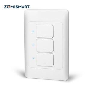 Image 1 - Zemismart新デザインジグビー 3.0 プッシュライトスイッチsmartthings制御米国au物理壁スイッチプッシュボタンインタラプタ