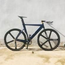 Vélo de piste Fixie vélo alliage d'aluminium 52cm 56 cm cadre 5 rayons roue en alliage de magnésium vélo à vitesse unique 700C vélo à engrenages fixe
