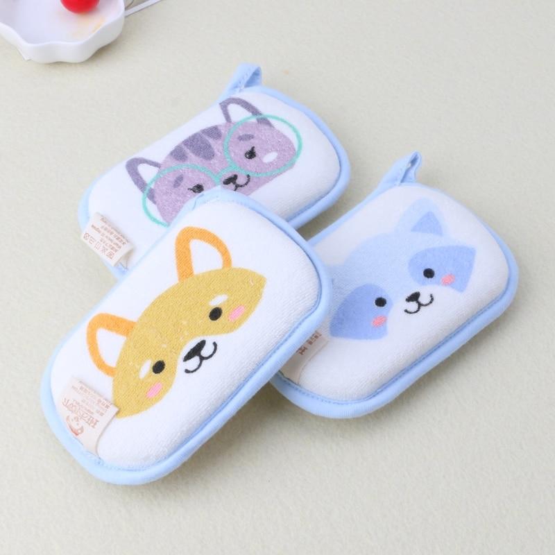 Newborn Baby Bath Brushes Infant Shower Sponge Cotton Rubbing Body Wash Towel