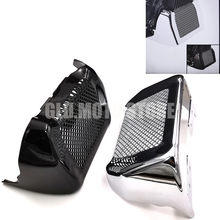 Motorcycle Fairing Molding Guard Oil Cooler Radiator Cover For Harley Road King FLHR Street Glide FLHX 11-16 Electra Glide Classic FLHTC,Black