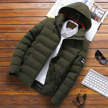 Factory direct warm winter men's cotton clothing youth thick cotton coat large size detachable hooded jacket women