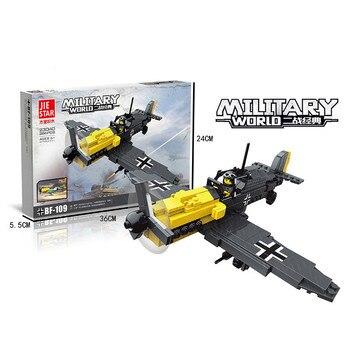La técnica de bloques de construcción WW2 montado aeronave militar Wars ejército clon Troopers soldado Mini figuras DIY ladrillos estrella juegos de Juguetes
