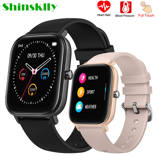 Full Touch Smart watch Men Women Custom Dials Smartwatch Heart Rate Fitness Tracker Music Control Sport Watches For Android IOS