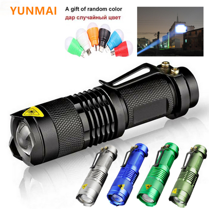 2021 à prova dwaterproof água led lanterna q5 2000lm 3 modos zoomable venda quente auto defesa choque mini flash luz tocha penlight aa 14500
