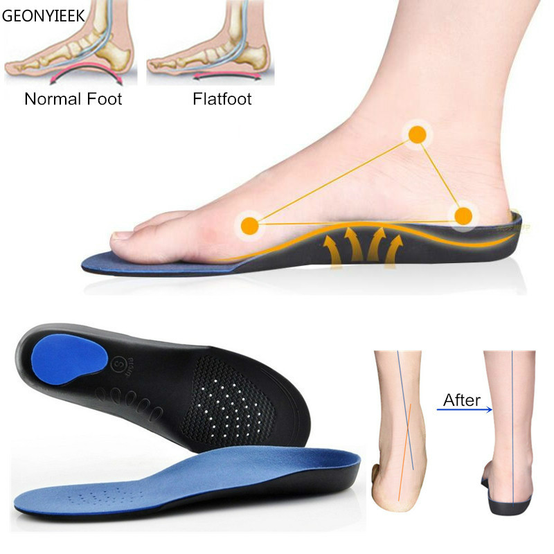 Professional Orthotic Insoles EVA Adult Flat Foot Arch Support Orthopedic Insoles Shoe Cushion Insert Feet Health Care Foot Tool