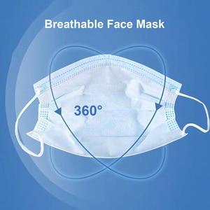 Image 4 - CZ US Stock 50 200 قطعة غير المنسوجة قناع واقٍ أقنعة المتاح مكافحة PM2.5 الجسيمات واقي الوجه تنفس الغبار الفم أقنعة