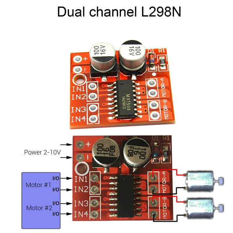 1PCS L298N Dual Channel DC Motor Driver Mini Module PWM Speed Control Beyond