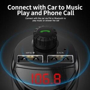 Image 3 - KUULAA Caricabatteria Da Auto Trasmettitore FM Per Auto Bluetooth Audio MP3 Lettore Carta di TF Car Kit 3.4A Doppio Dellautomobile del USB Caricatore Del Telefono per Xiaomi Mi