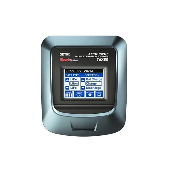 SKYRC T6X80 80 واط 8A التيار المتناوب/تيار مستمر LCD شاشة تعمل باللمس بطارية مهنية شاحن ميزان مفرغ ل يبو/الحياة/بطارية ليلون الاتحاد الأوروبي التوصيل