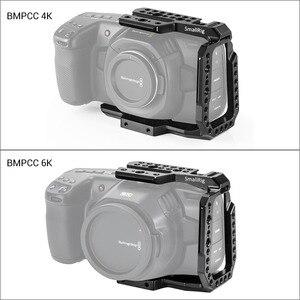 Image 4 - Blackmagic 디자인을위한 SmallRig BMPCC 4K 6K 하프 케이지 Nato Rail/Arri 위치 결정 구멍이있는 포켓 시네마 카메라 케이지/구두 2254