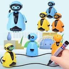 Siga qualquer linha desenhada caneta mágica brinquedo indutivo robô modelo crianças presente caminhão preto mapa da trilha selfie corrida brinquedo elétrico # l4