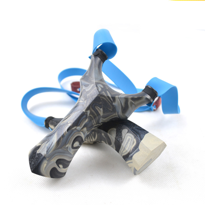 Slingshot Hunting ABS Plastic Catapult With Flat Rubber Band Outdoor Sports Shooting Slingshots High Quality Random