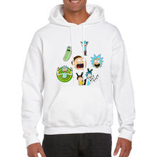2019 Nieuwe Mannen Hooded Rick en Morty Cartoon Anime Hoodies Mannen Streetwear Homme Frankenstein Fleece Wit Sweatshirt Man(China)