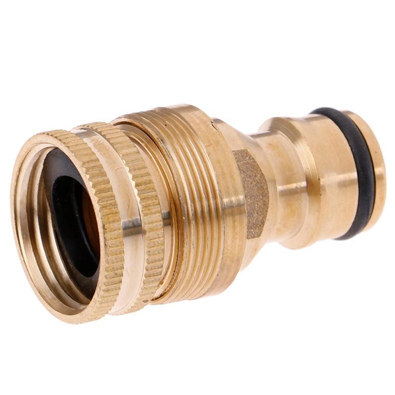 Garden Hose Connector Adaptor Thread Tap Brass Watering Spray Nozzle Accessories