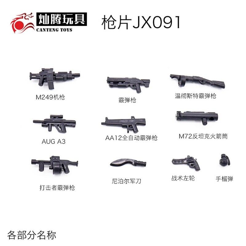 50 pc Weapon minifigure Military Swat Police Tool Rifle Pistol L brik compatible