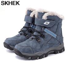 SKHEK – bottes Martin pour enfants, bottes d'hiver russes à-30 degrés pour garçons et filles à fond souple, confortables et antidérapantes, taille plus