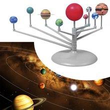 2020 New Solar System Planetarium Model Kit Astronomy Science Project DIY Kids Gift worldwide hot toy 2017 diy the solar system nine planets planetarium model kit science astronomy project early education for children