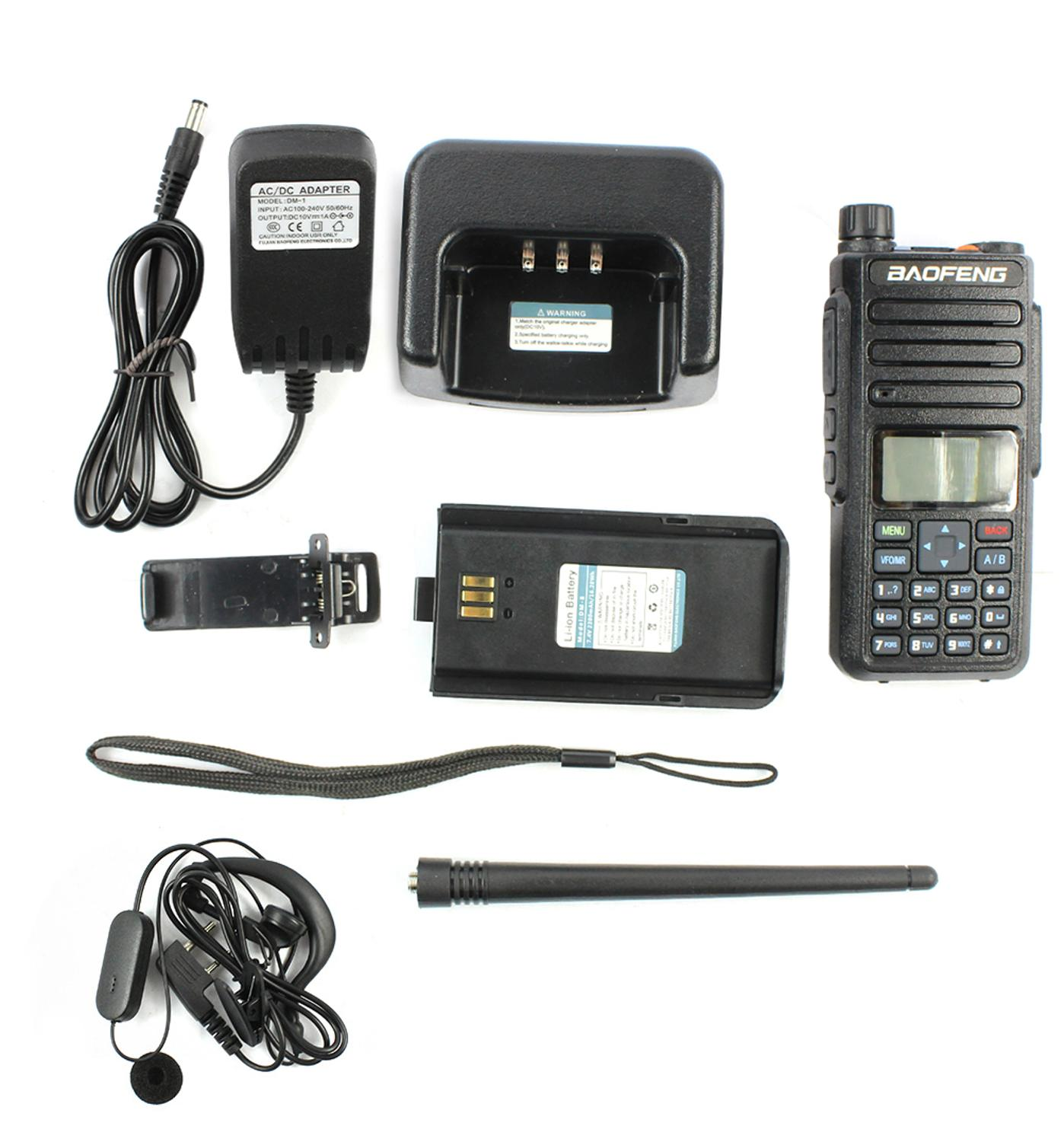 Baofeng DM-1801 Dual Band Dual Time Slot DMR Digital/Analog 2Way Radio 136-174/400-470MHz Walkie Talkie DMR Portable Radio