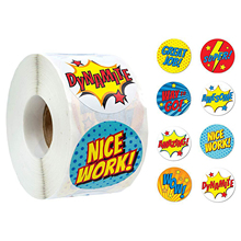 500PCS Superhero Children Stickers Label Set for Kids Birthday Party Supplies School Awards Eight kinds Super Hero Tags