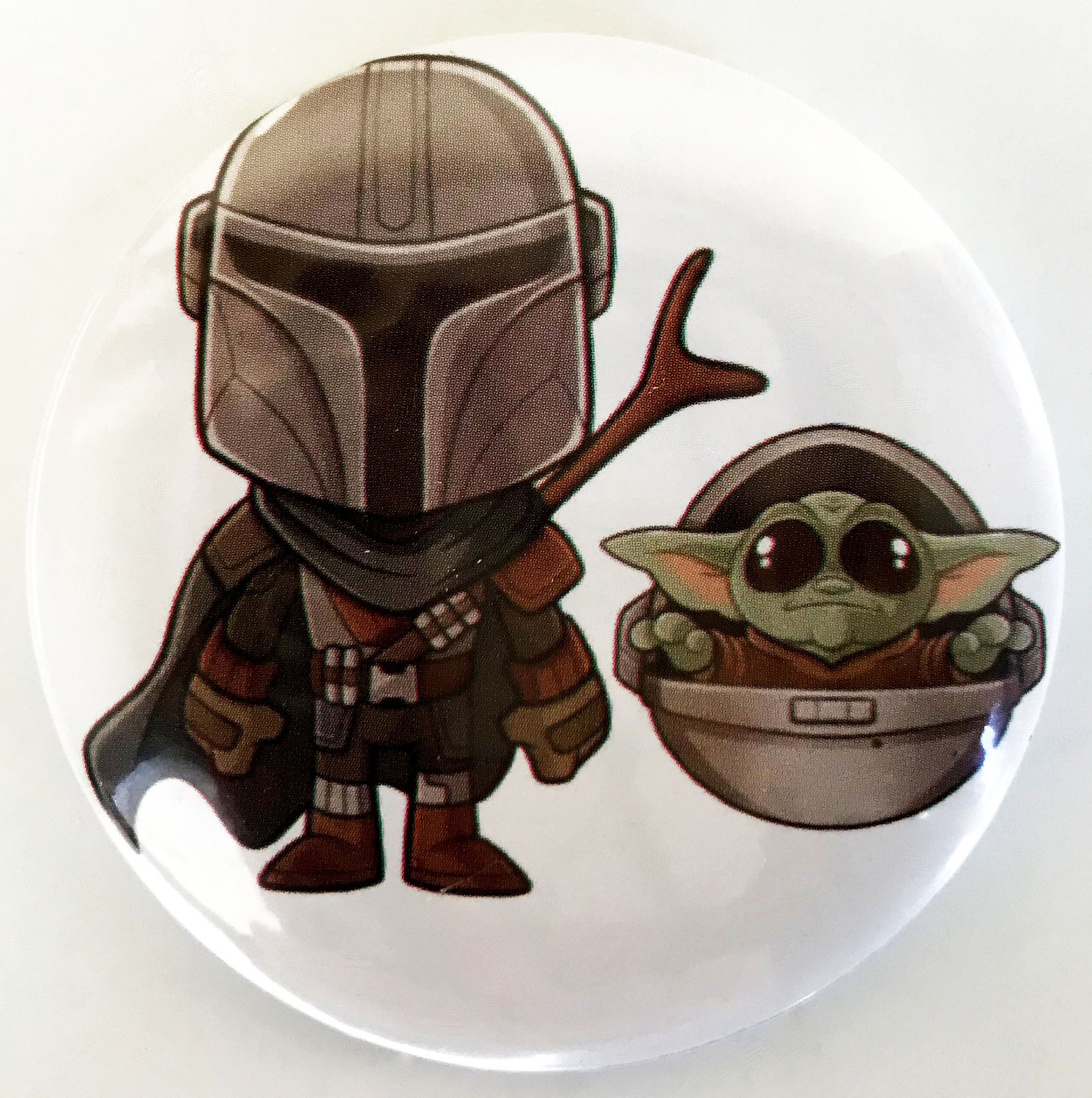 3D Print Yoda Baby The Mandalorian Badge For T Shirt DIY Decorative Pin For Women Backpack Cool Accessories