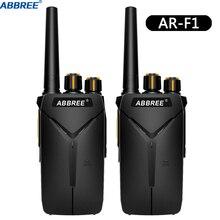 2PCS ABBREE AR F1 Walkie Talkie 10km ยาว 5W UHF 400 470MHz VOX Ham CB แบบพกพา Woki Toki BF 888S BF888S Two Way วิทยุ