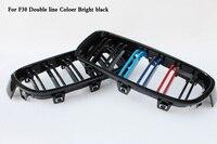 Dwe linie ABS Coloer węgielna czerń kratka pasuje do BMW serii 3 F30 F35 320i 328i w Kratki wyścigowe od Samochody i motocykle na