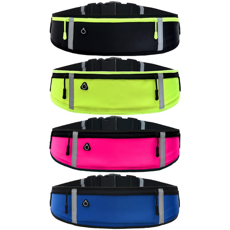Sports Waist Bag Outdoor Running Phone Bag Anti-theft Reflective Belt Pack