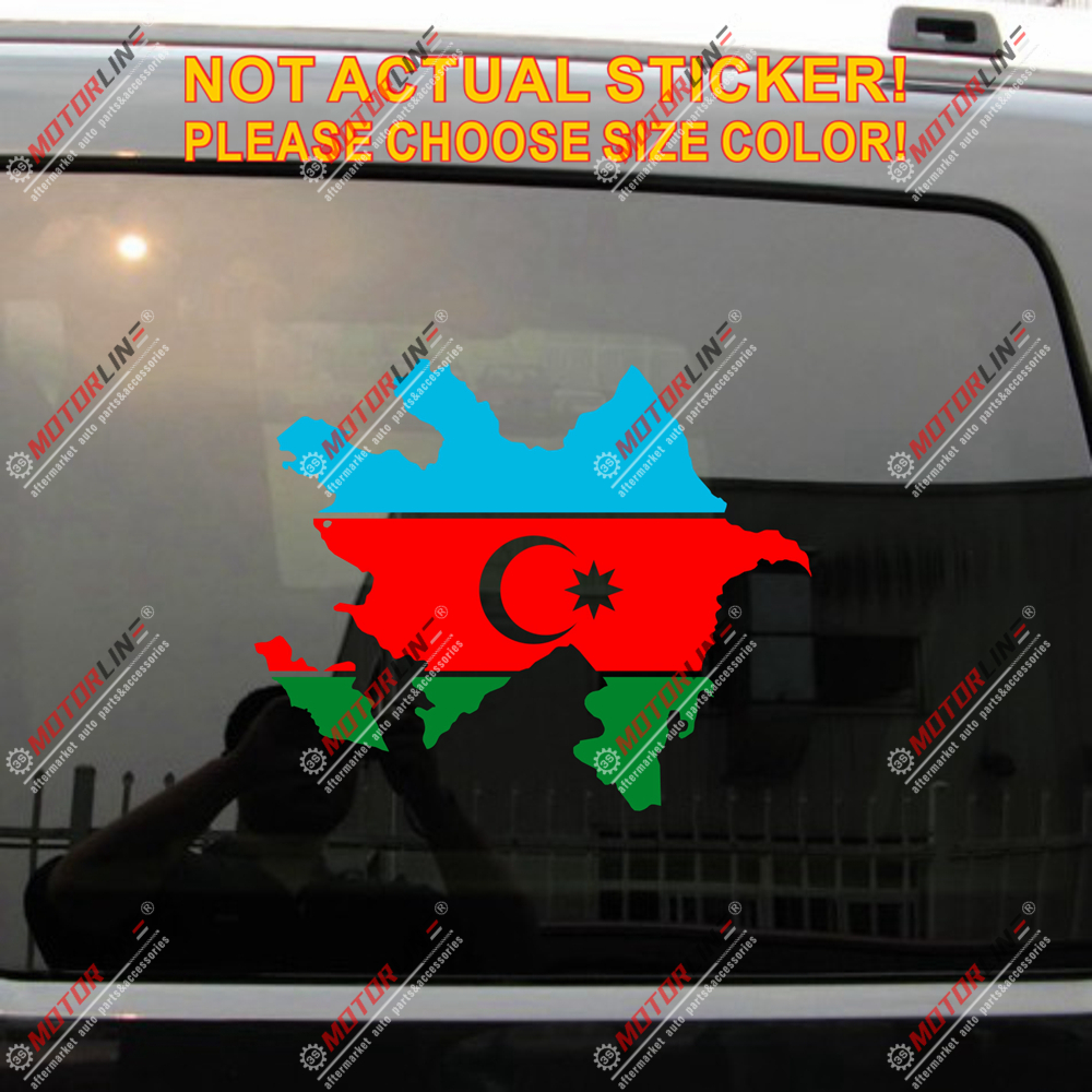 Azerbaijan Map Flag Outline Decal Sticker Car Vinyl Pick Size Color No Bkgrd B Car Stickers Aliexpress
