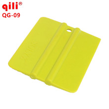 100pcs/lot Qili QG-09 Small Square Car Vinyl Film Scraper Plastic Squeegee Tools Window Film Installation Tint Scraper