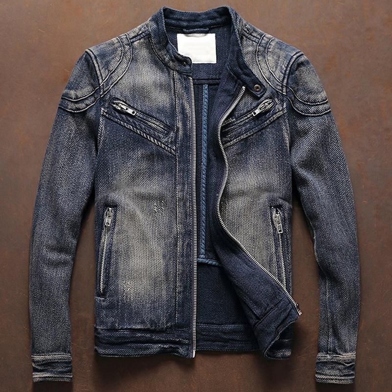 Name Brand Men's Biker Coats Windbreaker Motorcycle Mens Jeans Jackets And Coats Spring Male Denim Overcoats XXXL Plus Size A606