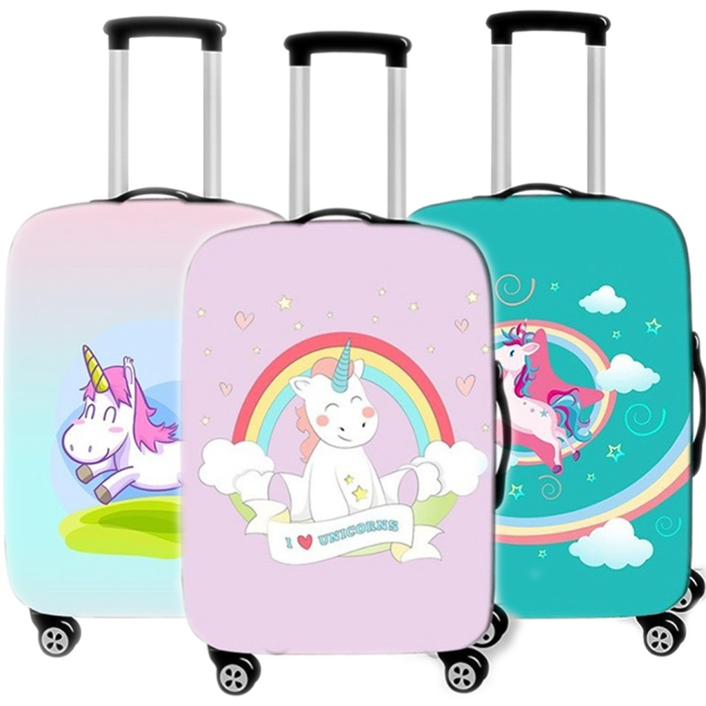 Cartoon Animal Unicorn Luggage Cover Protective Travel Accessories Waterproof Thicken Elastic Suitcase Trunk Case 18-32 Inch XL