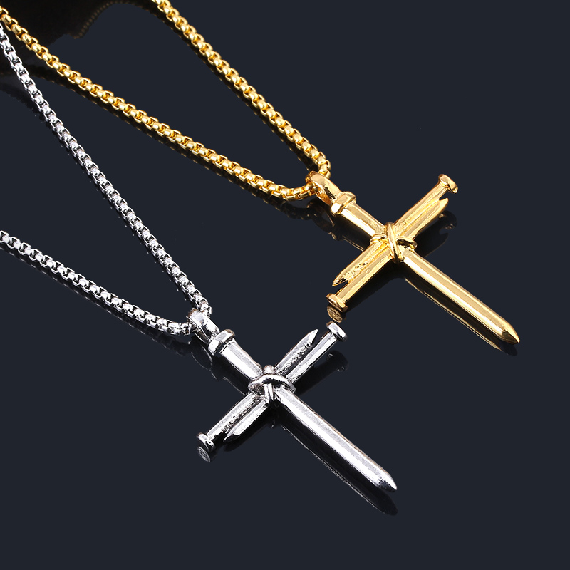 Jesus Christ Cross Necklace Women/'s Punk Style Pendant Necklace Clavicular chain Metal alloy jewelry  Gold Silver  FREE P/&P Worldwide