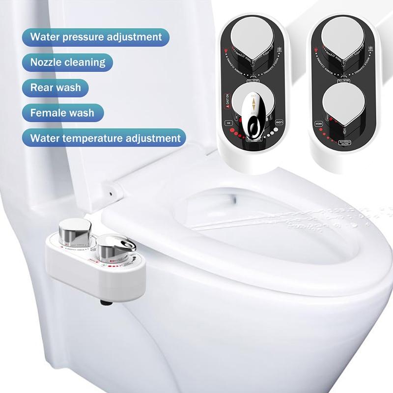 Non-Electric Bidet Toilet Seat Bidet Attachment Self-Cleaning Nozzle-Fresh Water Bidet Sprayer Mechanical Muslim Shattaf Washing