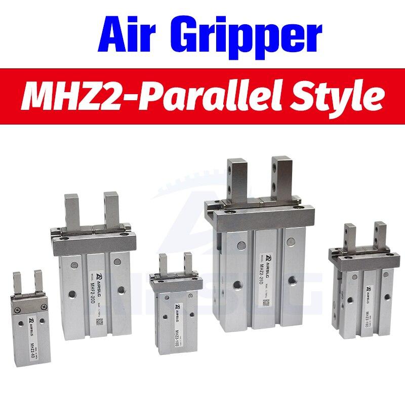 SMC Type MHZ2 Double Acting Air Pneumatic parallel Gripper MHZ2-10D MHZ2-16D 20D 25D 32D 40D  Aluminium Clamps Finger Cylinder
