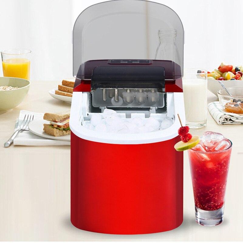 Machine à glace électrique à la maison de glace de balle de Machine à glace de 15 KG/24 H Machine de fabrication de glace ronde grand Bar café Teamilk Shop 220v rouge/argent - 3