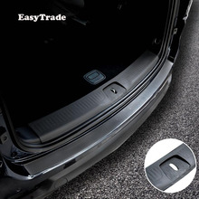 Car Rear Door Sill Plate Protector Anti-Scuff Trunk door sill leather sticker For Jeep Cherokee 2014-2019 Accessories