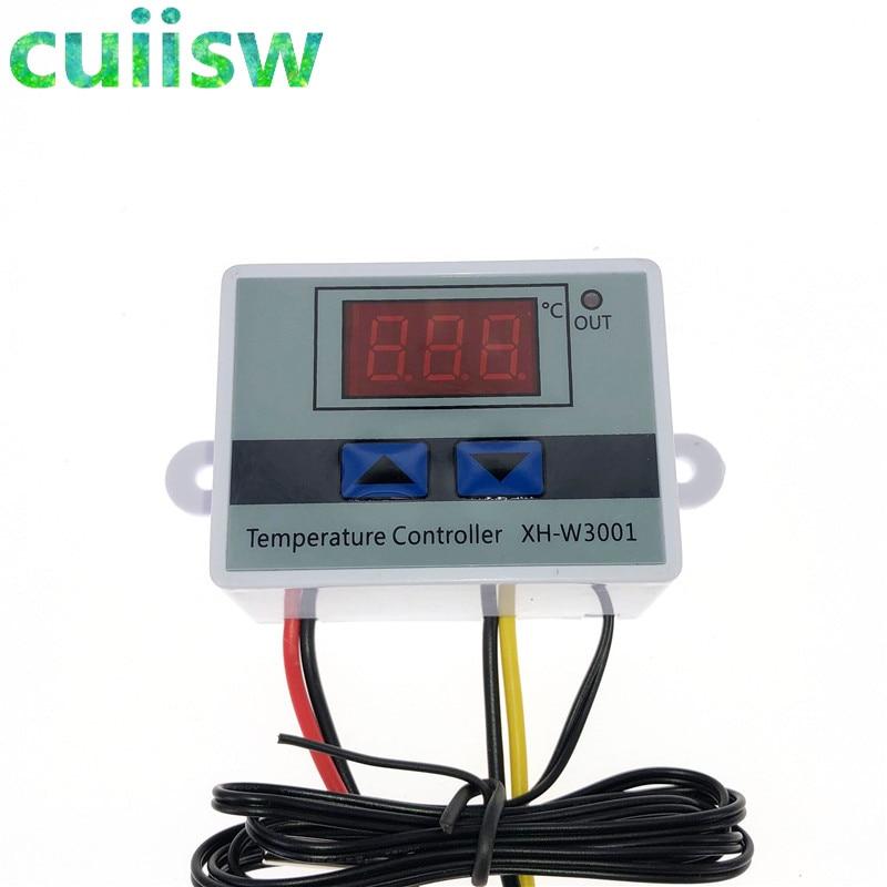 Цифровой светодиодный регулятор температуры, 12 В/24 В/110 В/220 В W3001, 10 А, переключатель управления термостатом
