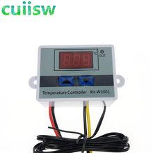 Interruptor digital de controle de temperatura, controlador de temperatura digital 10a, 12v/24v/110v/220v w3001 sonda XH-W3001,