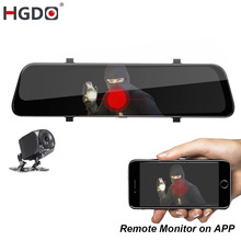 HGDO 12 ''4G ADAS Auto DVR della Macchina Fotografica del Android 8.1 Media Streaming Rear View Mirror FHD 1080P WiFi GPS Dash Cam Registrar Registratore Video