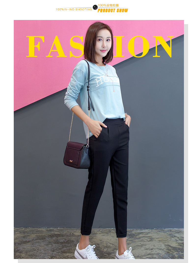 He1590eb8c69e410abfc850fe12faa251m - New Plus Size Women High Waist Pants Loose Stretch Harem Pants Female Casual Long Trousers Classic Pleated Pocket Office Pants